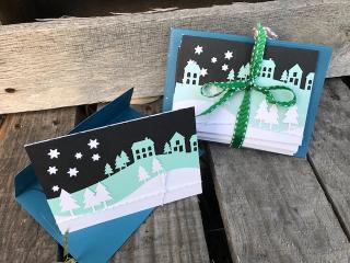 Snow village cards